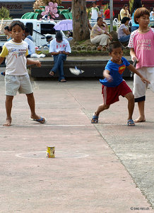 tumbang preso Tumbang preso (knock down the prisoner), also known as 'tumba lata (knock down the can) or bato lata (hit the can [with a stone]), is a traditional filipino children's game.